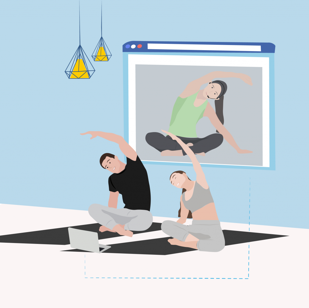 Remote joga class