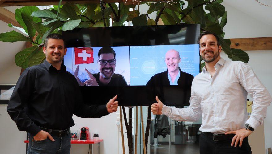 HYVE Switzerland team with HYVE Germany