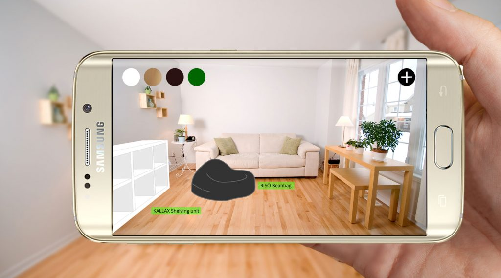 AR smartphone application